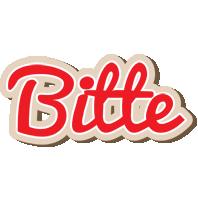 Bitte chocolate logo