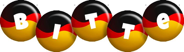 Bitte german logo