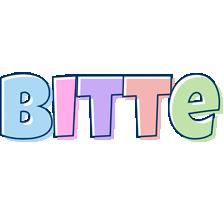 Bitte pastel logo