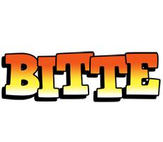 Bitte sunset logo