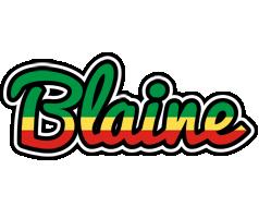 Blaine african logo