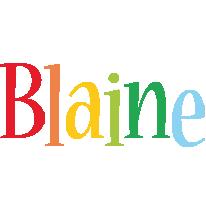 Blaine birthday logo