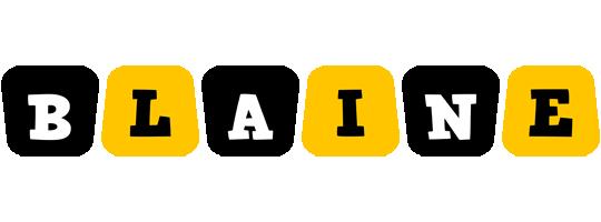 Blaine boots logo