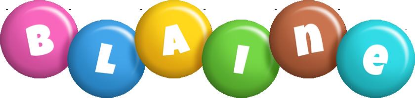 Blaine candy logo