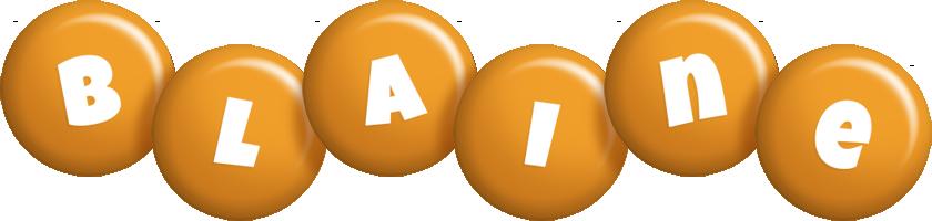 Blaine candy-orange logo