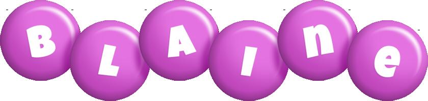 Blaine candy-purple logo