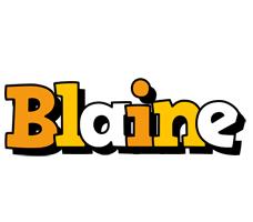 Blaine cartoon logo