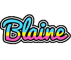 Blaine circus logo