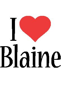 Blaine i-love logo