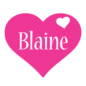Blaine love-heart logo