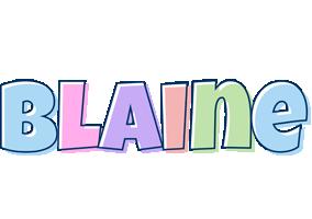 Blaine pastel logo
