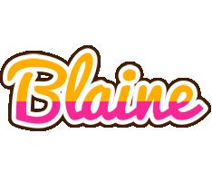Blaine smoothie logo