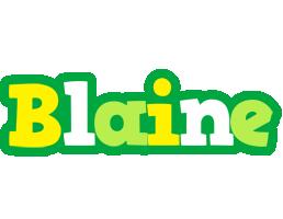 Blaine soccer logo