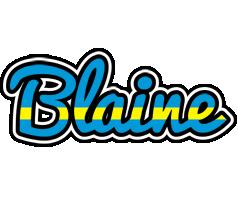 Blaine sweden logo