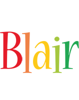 Blair birthday logo