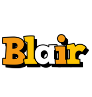 Blair cartoon logo