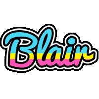 Blair circus logo