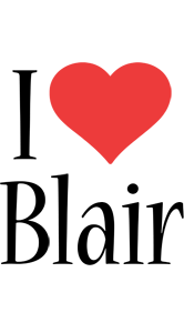 Blair i-love logo