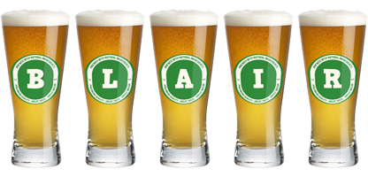 Blair lager logo