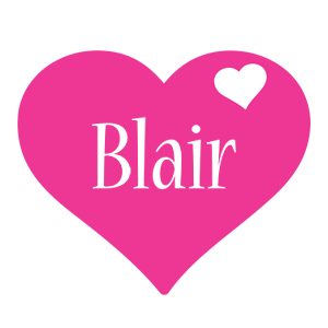 Blair love-heart logo