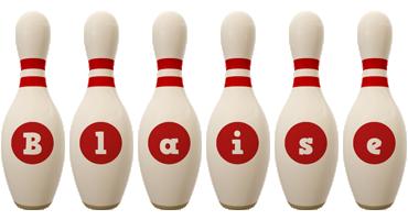 Blaise bowling-pin logo