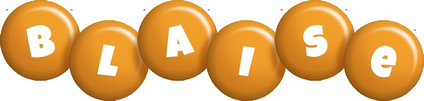 Blaise candy-orange logo