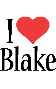Blake i-love logo