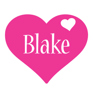 Blake love-heart logo