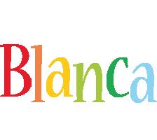 Blanca birthday logo