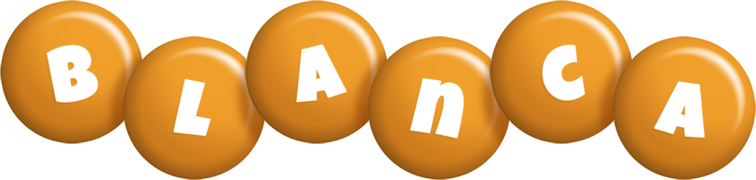 Blanca candy-orange logo