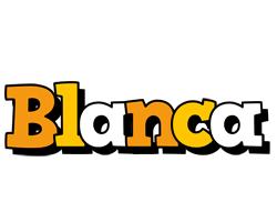 Blanca cartoon logo