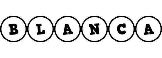 Blanca handy logo