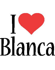 Blanca i-love logo