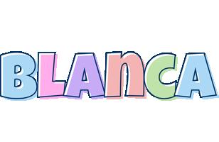 Blanca pastel logo