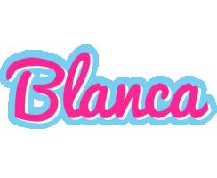 Blanca popstar logo