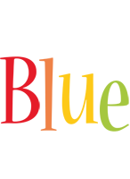 Blue birthday logo