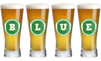 Blue lager logo