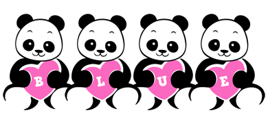 Blue love-panda logo