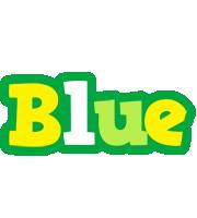Blue soccer logo