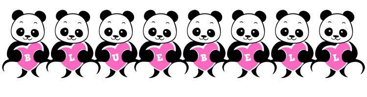 Bluebell love-panda logo