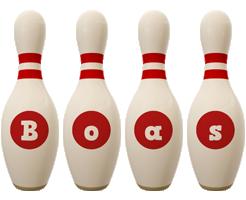 Boas bowling-pin logo