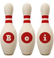 Boi bowling-pin logo