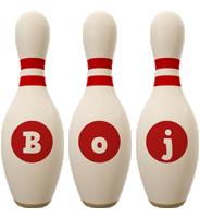 Boj bowling-pin logo