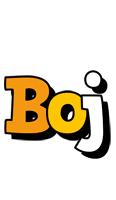 Boj cartoon logo