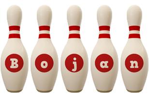 Bojan bowling-pin logo