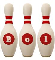 Bol bowling-pin logo