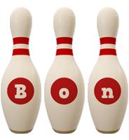 Bon bowling-pin logo