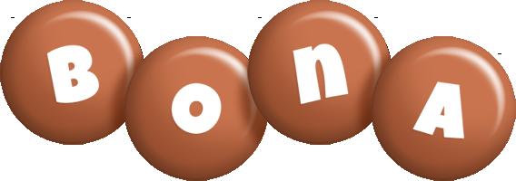 Bona candy-brown logo