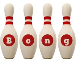 Bong bowling-pin logo