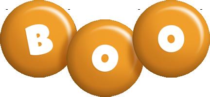 Boo candy-orange logo